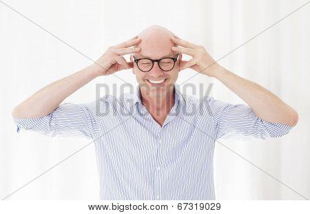 Portrait Of A Bald-headed Man