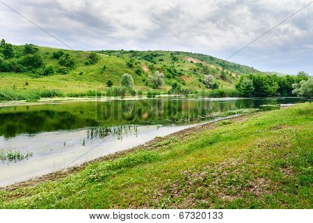 Riverside of the Seversky Donets River