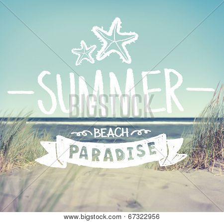 Summer Quote on Beach Background