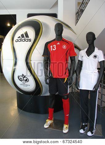 The Adidas Teamgeist soccer ball is the official match ball of the 2006 FIFA World Cup