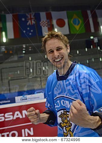 Ossi Pellinen after Inline hockey World Championship finals
