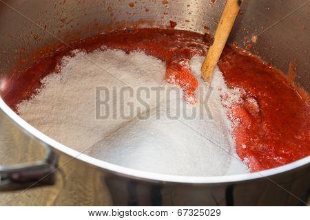Strawberry Jam Cooking Encore Of Sugar