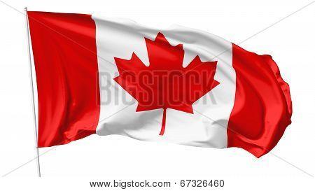 Flag Of Canada On Flagpole