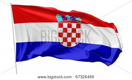 Flag Of Croatia On Flagpole