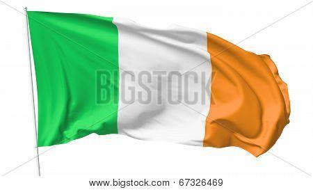Flag Of Ireland On Flagpole