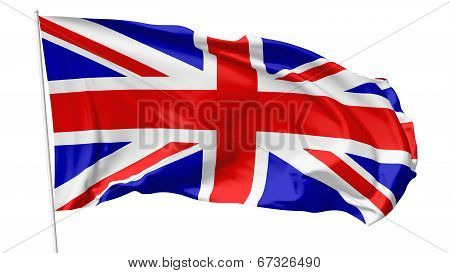 Flag Of United Kingdom On Flagpole