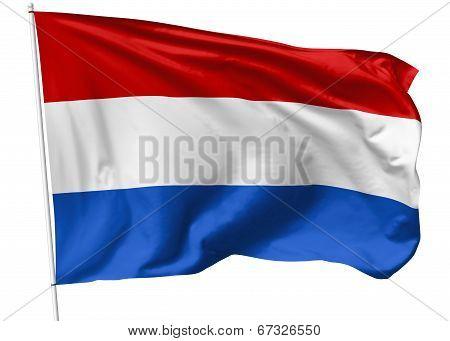 Flag Of Netherlands On Flagpole