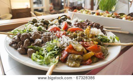 self-service salad bar
