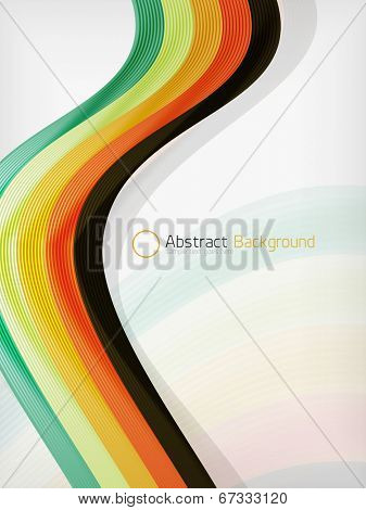 Colorful abstract flowing elegant lines design template with copy space