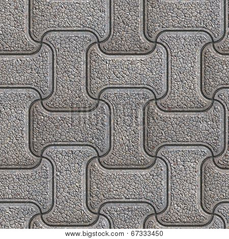 Grey Brick Pavers. Seamless Texture.