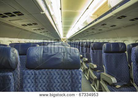 Passenger seats interior of  passenger jet