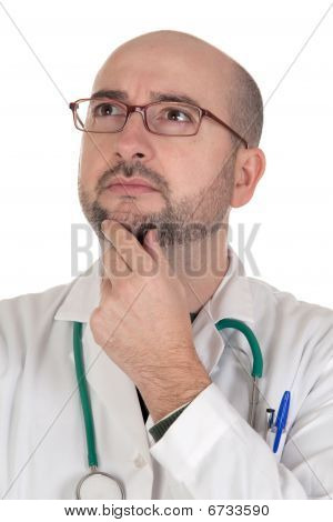 Doctor With Pensive Gesture