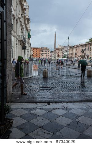 Cloudy Weather In Rome