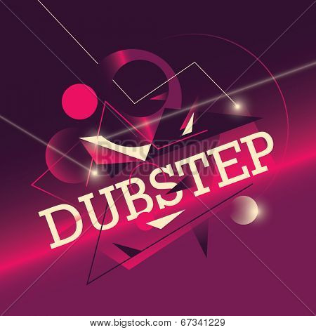 Abstract dub step background. Vector illustration.
