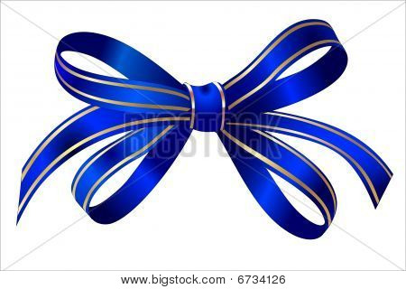 gift Bright blue gold bow