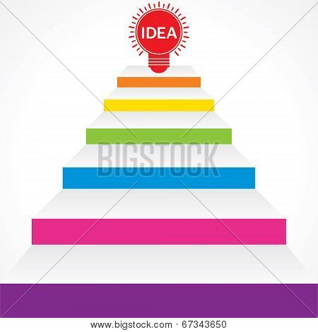Different stairs required for idea stock vector