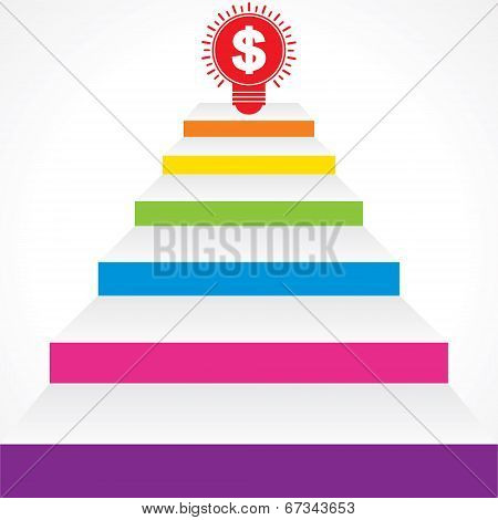 Different stairs required for money stock vector