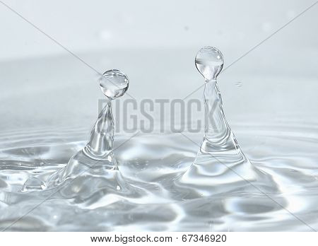 two water droplets