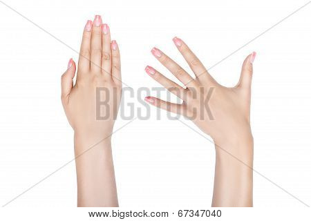 Female Hands With Beautiful Nails.