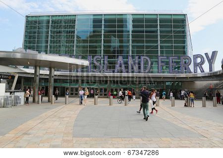 The Staten Island Ferry Whitehall Terminal in Manhattan