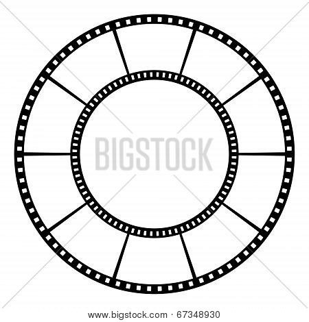 Film tape. Vector illustration.
