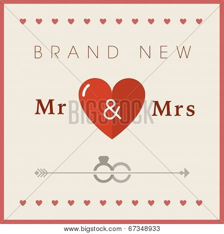 Heart theme wedding card