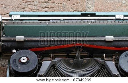 Red And Black Ribbon Of A Typewriter