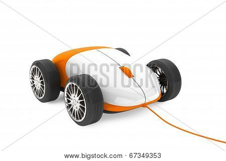Computer Mouse On A Wheels
