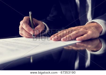 Signing Legal Document