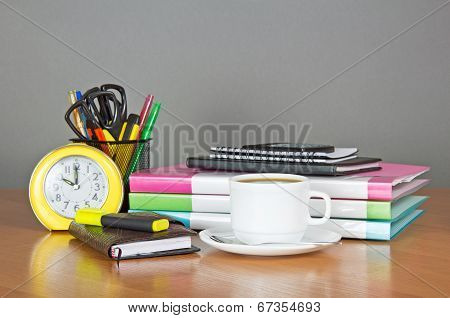 Set of stationery and office equipment