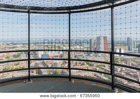 Viewing Platform At A Skyscraper In The Dutch City The Hague
