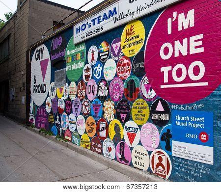 Grafitti On A Wall Down Wellesley Street