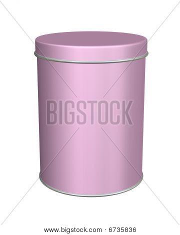 Pink Metal Round Tin