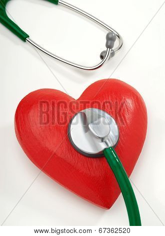 Heart an stethoscope