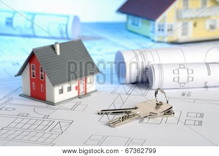 Houses With Blueprints And Keys