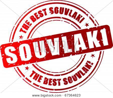 Vector Souvlaki Stamp
