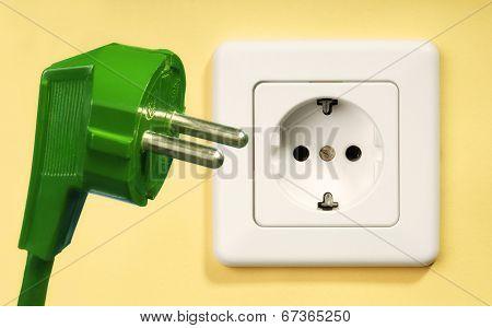 Socket And Green Plug