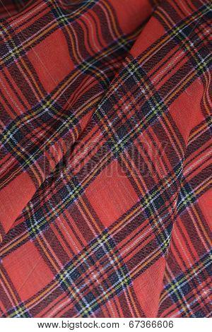 Plaid Fabric Background