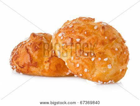 Choux Pastry Isolated On White