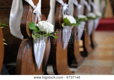 White Flower Wedding Decoration