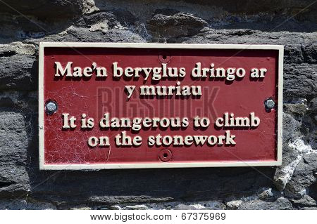 It is dangerous to climb
