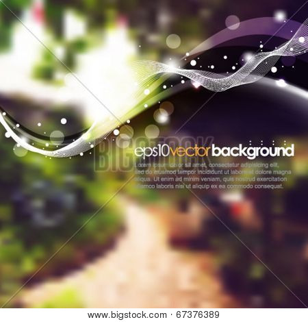 eps10 vector realistic blurred garden background