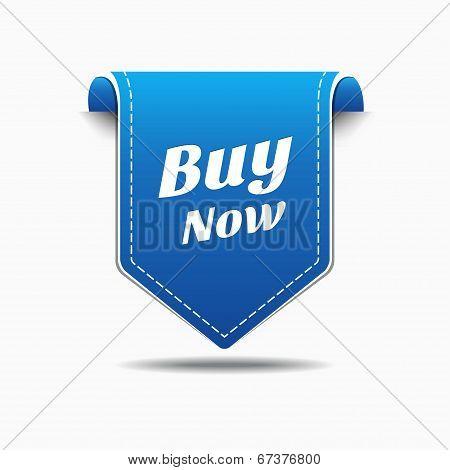 Buy Now Blue Label Icon Vector Design