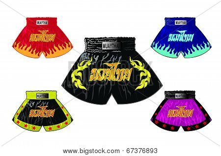 thai boxer shorts