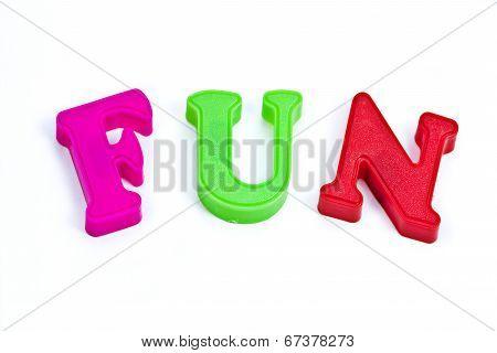 Fun Plastic Colored Letters