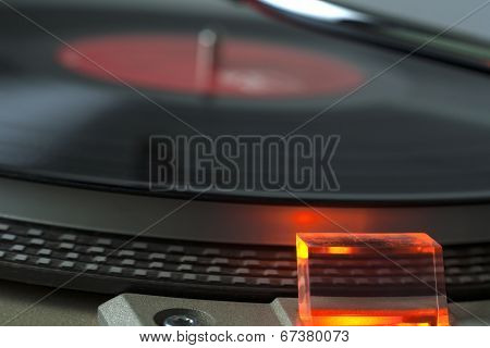 Closeup View Of Record Player