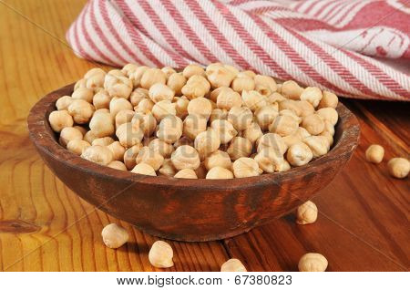 Bowl Of Dried Garbanzo Beans