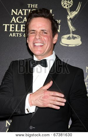 LOS ANGELES - JUN 22:  Christian LeBlanc at the 2014 Daytime Emmy Awards Arrivals at the Beverly Hilton Hotel on June 22, 2014 in Beverly Hills, CA