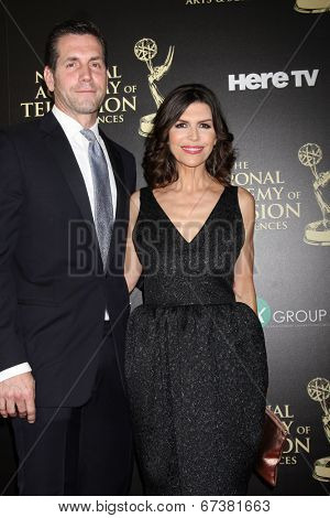 LOS ANGELES - JUN 22:  Frank Valenti, Finola Hughes at the 2014 Daytime Emmy Awards Arrivals at the Beverly Hilton Hotel on June 22, 2014 in Beverly Hills, CA