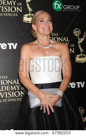 LOS ANGELES - JUN 22:  Melissa Reeves at the 2014 Daytime Emmy Awards Arrivals at the Beverly Hilton Hotel on June 22, 2014 in Beverly Hills, CA